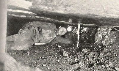 Miner at work in the Low Coal Bradford Mine
